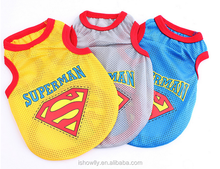 pet dog cat cloths super man style