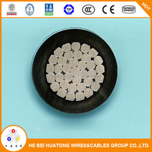 China factory 50mm2 10kV XLPE insulated electrical aerial bundle cable size