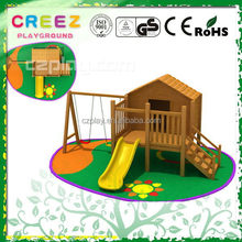 Popular promotional wooden playground equipment