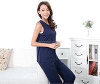 breathable cotton material smooth wholesale pajamas night shirts AK186