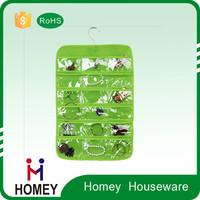 Plastic wall storage pocket hanging organizer
