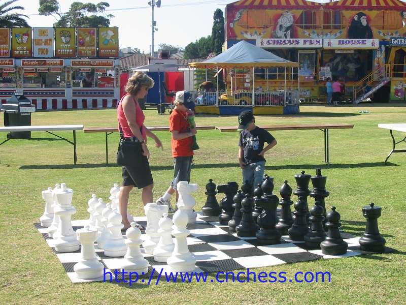 Gigante xadrez com rei 8 '' 12 '' 16 '' 25 '' 36 '' 48 ''