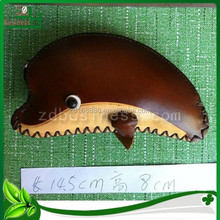 handmade promotion key case holder bag with genuine leather for dolphin design