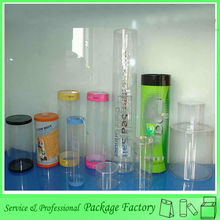 Factory direct price plastic clear round cylinder shape clear PVC packaging