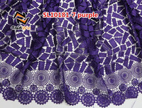2015 Top Fashion Latest Design Guipure Lace Chemical Lace with pretty beads sl10181-7