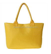 Womens New Leather Handbag Messenger Shoulder Bag Yellow Synthetic Leather Tote Bags