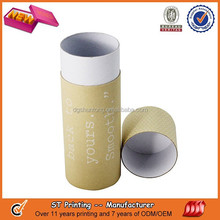 Clear printing t-shirt packaging tube,cosmetic packaging tube