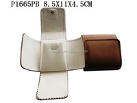 Big Size PU Leather Foldable Packaging Gift Jewelry Pendant Bag for Travel P1665PB