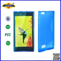 Newest Blue Color Transparent Clear TPU Case S Line TPU Gel Case For Blackberry Leap