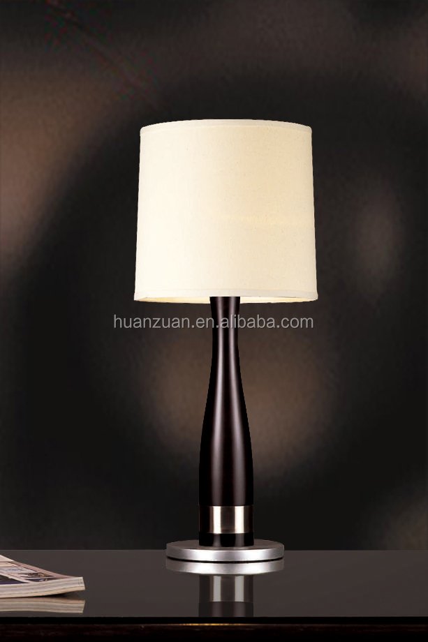 modern cone fabric shade square cheap wooden base table lamp buy table lamp. Black Bedroom Furniture Sets. Home Design Ideas