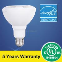 UL&Energy Star Listed PAR30 Lamp 25D beam angle 11.5W 950lm 4000K CRI>80