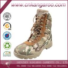 Militar del arbolado táctica de camuflaje botas con cremallera