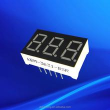 "warm / pure / cool white led 3 digit 7 segment led display 0.36"""