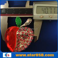 Diamond USB Flash Drive , Jewerly Heart Pen Drive ,Elegant usb disk heart shape 32GB