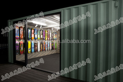 High Quality Attractive prefabricated Container shop design/ Marine Container coffee shop /Prefab shipping Container store