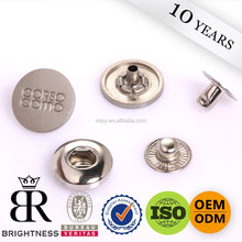 Fashion 4 parts alloy metal snap button for jacket in guangzhou