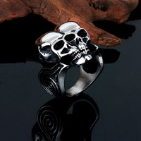 fashion 925 silver plated stainless steel skull ring settings without stones