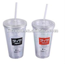 gift beverage can shaped double wall cold drink cup