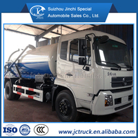 Diesel engine and Manual transmission Type 12000 L vacuum sewage truck distributor