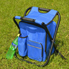 Durable camping cooler chair with bag