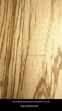 New Item natural zebrano wood veneer for furniture 0.5mm 1mm decorative thin plywood sheets