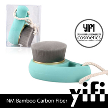 Cosmetic and brush factory ABS material carbon blue colors face cleaning brush