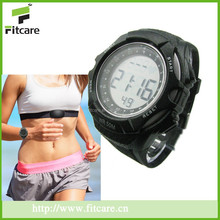 Best quality Waterproof 5.3khz Heart Rate Receiver Wireless Chest Strap heart rate monitor watch