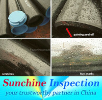 Carbon Steel Pipe Pre-Shipment Inspection Service / Lab Test / Construction Materials Inspection Services