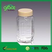 A11-2 1000g Pet Bottle Manufacturers unique shape plastic clear jar 750ml