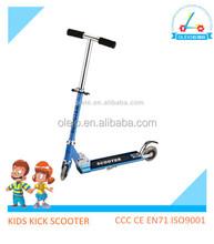 Sports game steel folding kids foot scooter adjustable 2 wheel kids kick scooter for sale