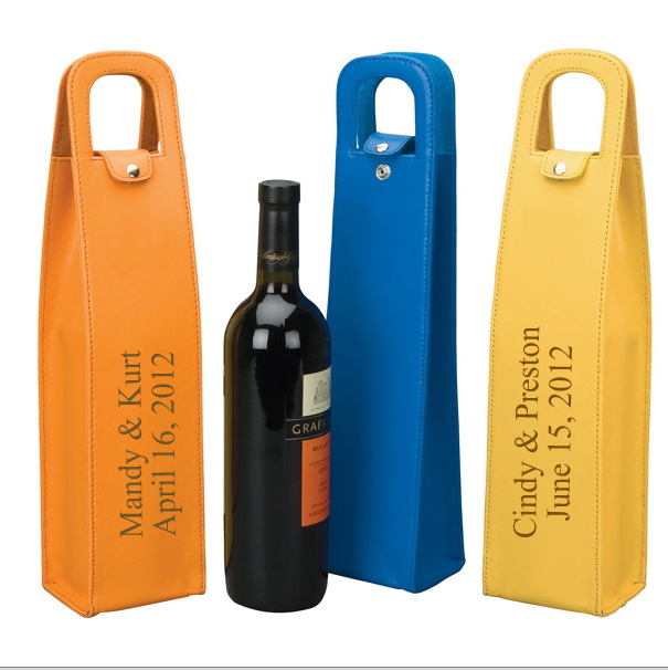 wholesale PU faux leather wine carrier PU leather wine carrier