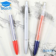 Plastic factories china paper inside pen banner ball pen