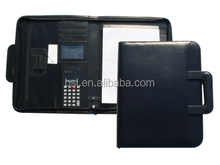 guangzhou stationrey very high quality a4 leather conference folder/contract folder