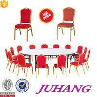Wooden And Metal Catering Furniture Table And Chair
