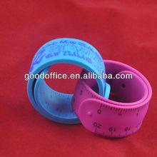 Eco-friendly soft rubber slap bracelet for promotion item