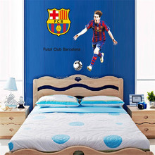 World Cup 2014 Golden Ball FCB Messi Posters World Cup 2014 Football Wall Stickers Sport High Quality SGS Removable PVC DF9905