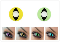 anti-rotate cat designs eyes with several colors, make eye attractive contact lenses