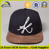 Embroidery Suede Flat Bill Snapback Hats Wholesale