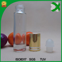 round 15ml 10ml roll on glass bottle, 8ml clear roll on glass bottle, 5ml 8ml 10ml glass roll on bottle