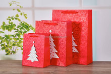 Fancy 3D with christmas tree design accept custom order paper gift bag