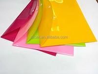 a4 clear plastic sliding bar file folder,Premium Quality Poly Envelope