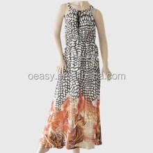 Nueva hawaiian style vestido para mujeres / de la gasa vestido de 2015