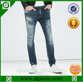 moda del mono dañados lavado slim fit hombres el último diseño de mezclilla pantalones vaqueros pantalones