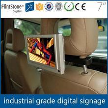 Flintstone 7 inch car lcd tv 12v/24v taxi/bus lcd digital advertising player