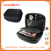 black color Shockproof Portable Multi-Compartment Hard Carrying Case design with Waterproof Cloth Surface.