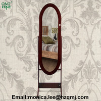 fashion bedroom dresser mirror cabinet with jewelry holding