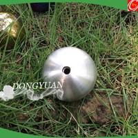 matte stainless steel ball with thread hole/stainless steel brush ball for garden decoration