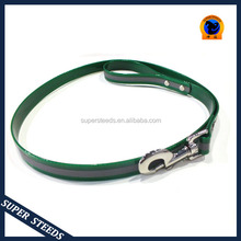 hot dark green plastic dog leads with reflective strap