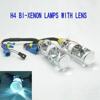 bi xenon lens H4 BiXenon bi-xenon Projector lens car hid projector lens headlight Headlamp for universal car truck H4 Hi low