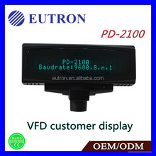 20x2 Character VFD Vacuum Fluorescent Display and supports 2 rows display of 20 characters